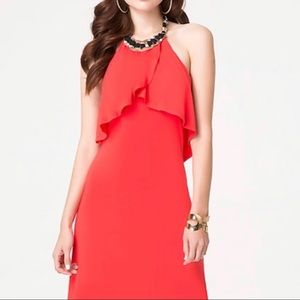 NWT Bebe Necklace Halter Minsk midi dress